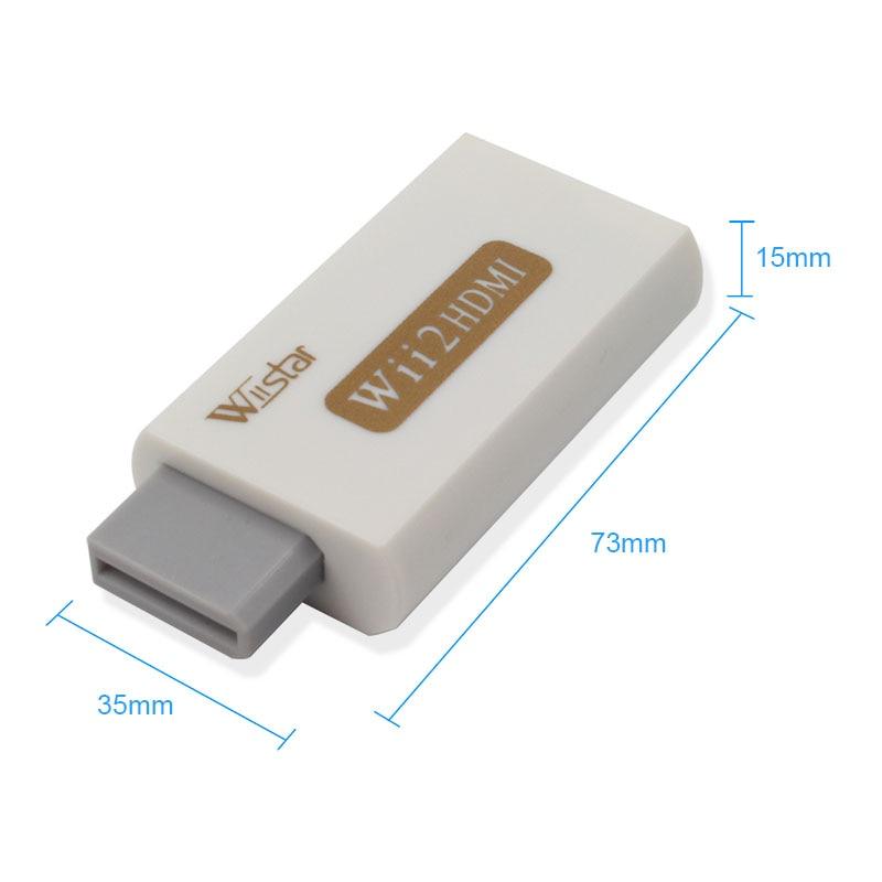 Wiistar Wii to HDMI адаптер конвертер Поддержка Full HD 1080P 3,5 мм аудио Wii2HDMI адаптер для HDTV