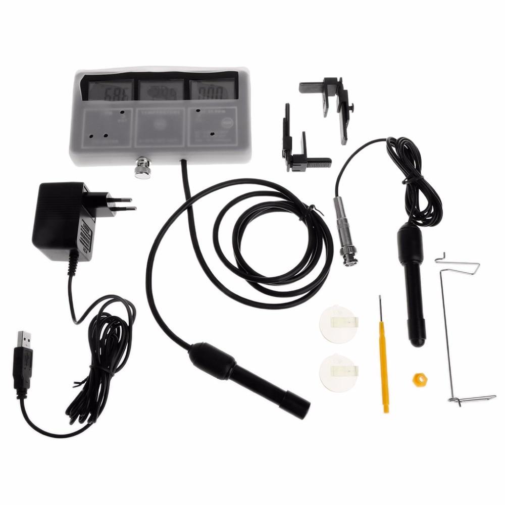 Monitor de Probador de Calidad del Agua 6 en 1, medidor de temperatura de acuario pH EC CF TDS