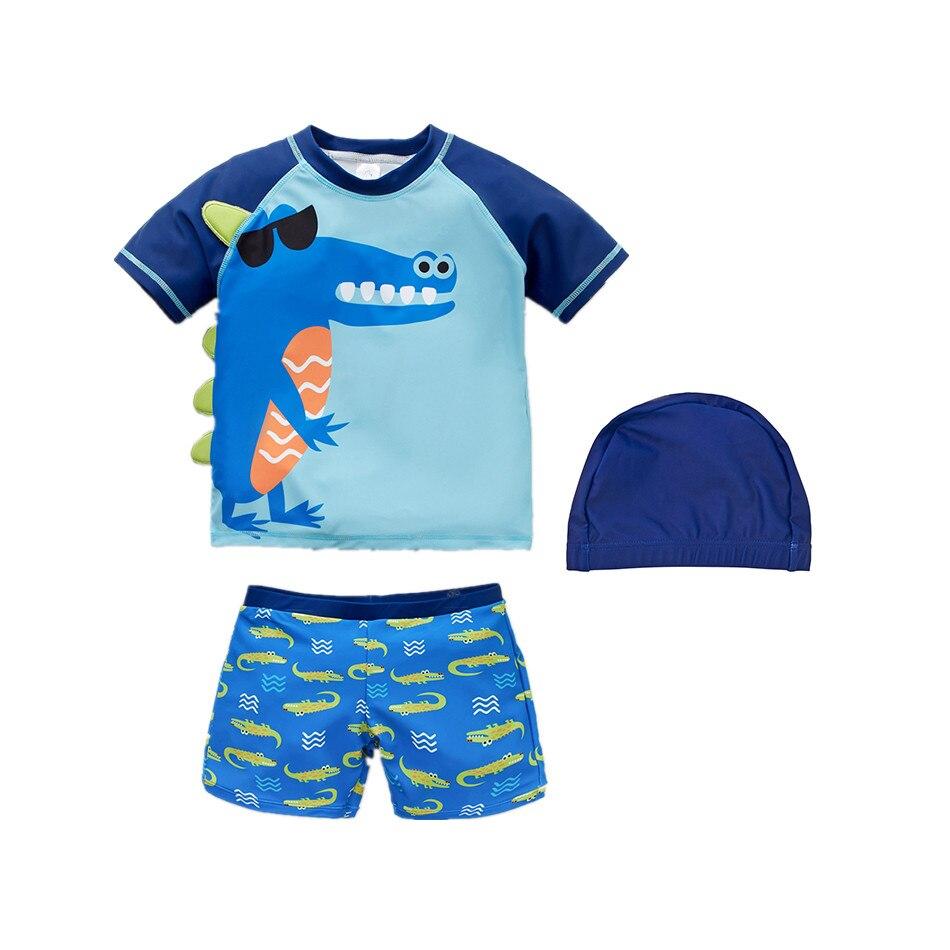Летний Быстросохнущий купальный костюм для маленьких мальчиков с разрезом
