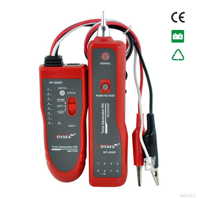Probador NF-806R localizador de fallas de Cable de red UTP STP RJ45 RJ11with pinza de cocodrilo