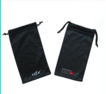 Petit sac de cordon en microfibre de haute qualité personnalisé sac de bijoux 9*18 cm en gros pochette cadeau personnalisée pour bijoux de lunettes de soleil