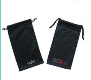 Microfibra de alta qualidade pequeno saco de cordão personalizado 9*18 cm saco de jóias de presente bolsa para óculos de sol feitos sob encomenda por atacado de jóias