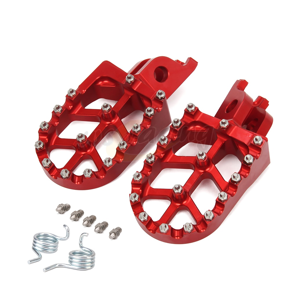 Motorcycle Aluminum FootRest pegs Pedals For CR CRF KX KLX 125 150 150R 450 250L 450R 450L 250RX 450X 250F 250R 450RX 1000L