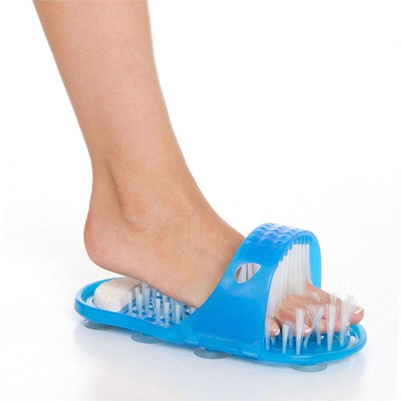 Zapatillas de masaje para el cuidado de los pies, cepillos de fregado, limpiador de piel muerta para baño, de piedra pómez exfoliador, pedicura, 1 unidad