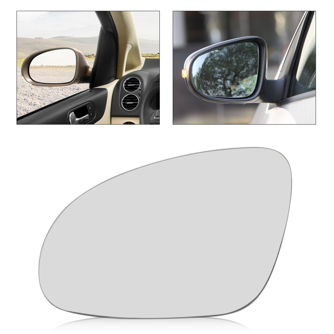 Espejo retrovisor lateral izquierdo para coche beler, cristal térmico con soporte para Volkswagen, Volkswagen, Golf, GTI, Jetta, MK5, EOS Rabbit R32, Passat B6