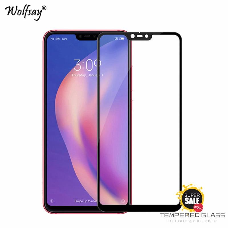 2PCS Full Glue Glass For Xiaomi Mi 8 Lite Screen Protector Tempered Glass For Xiaomi Mi 8 Lite Phone Film For Xiaomi Mi 8 Lite недорого
