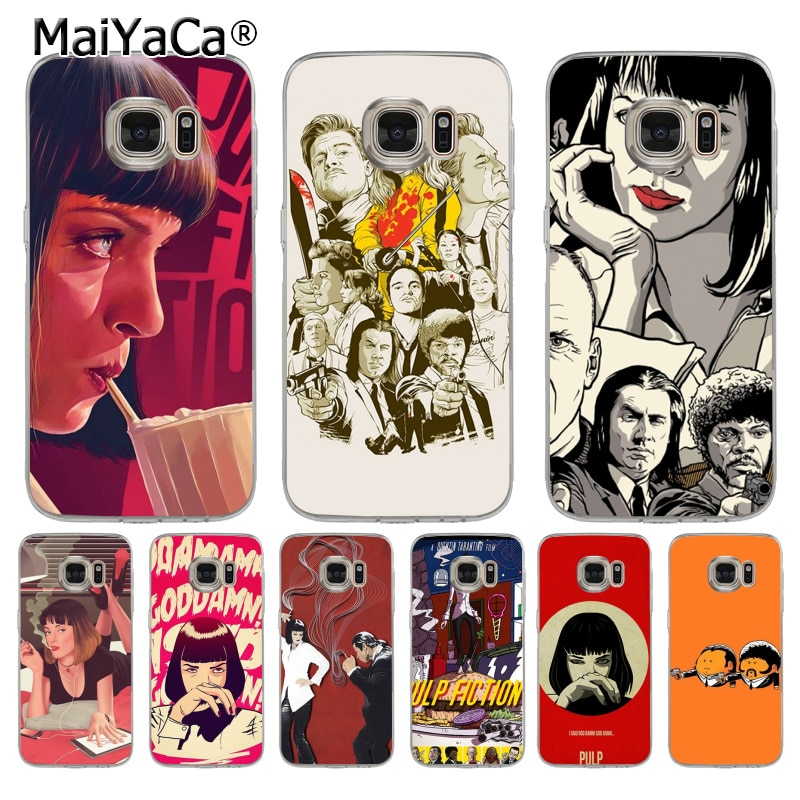 MaiYaCa Pulp Fiction movie poster Painted Phone Accessories Case for samsung galaxy s7 edge s6 edge