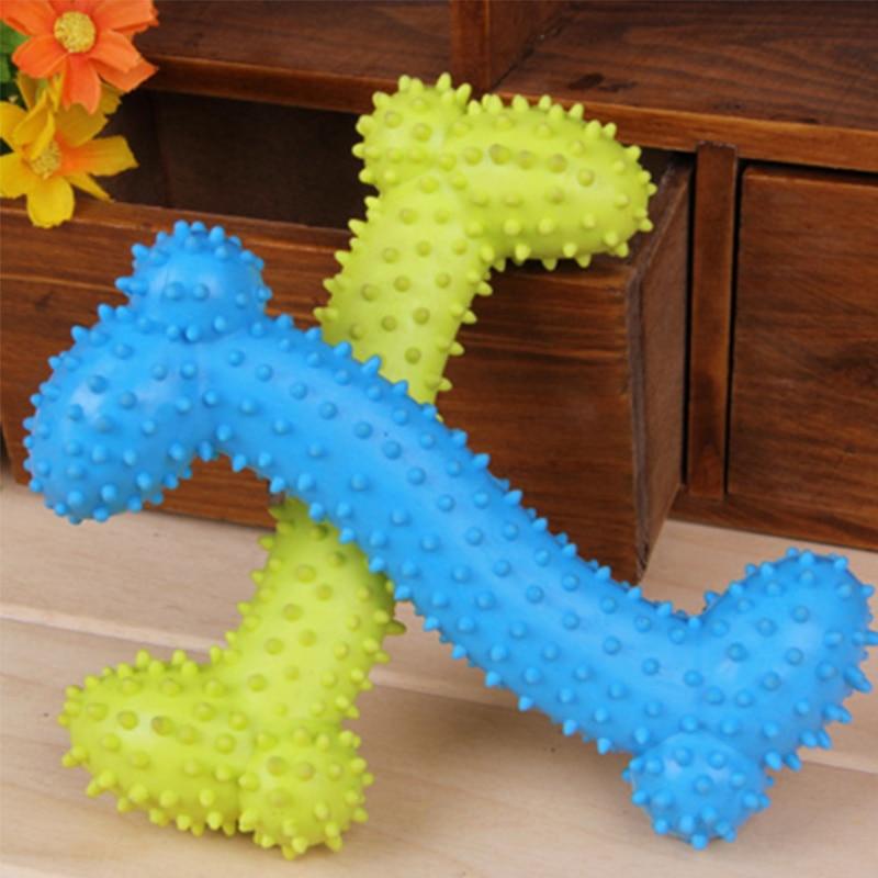 Резиновая зубная щетка для животных Smartpet, молярная зубная щетка для животных, щенков, собак, жевательная игрушка, уход за полостью рта, чистк...