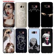 Pour galaxy s10 plus s10e étui Mona Lisa Art David lignes souple silicone housse de téléphone pour samsung galaxy s6 s7 bord s8 s9 plus