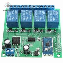 Релейный модуль с Bluetooth, 12 в пост. Тока, 4 канала, для мобильного телефона Android, переключатель дистанционного управления для двигателя, светод...