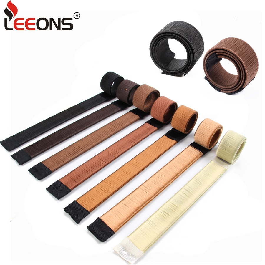 Leeons, французская оплетка, инструменты для укладки волос, сделай сам, волшебная булочка, аксессуары для плетения кос, спиральная губка, Пончик, булочка, прическа коричневого цвета