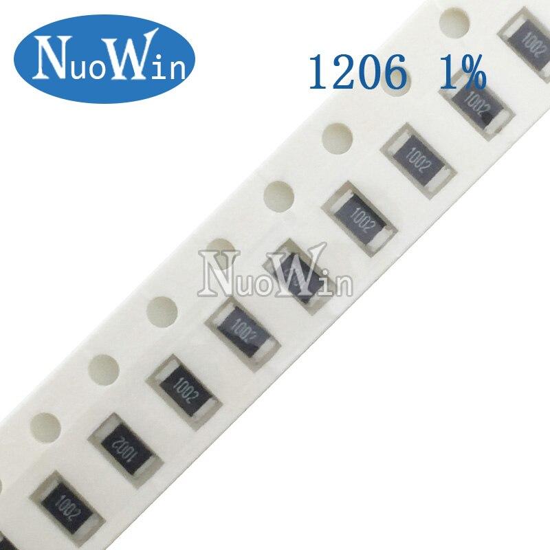 200 шт./лот 1206 SMD резистор 1% 36 39 43 47 51 Ом