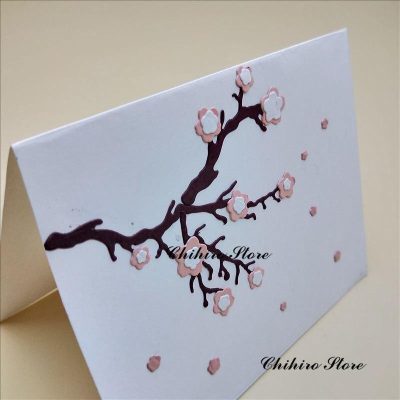 plum blossom flower dies  New Metal Cutting Dies for Scrapbooking DIY Album Embossing Folder Paper Card Maker Template Stencils