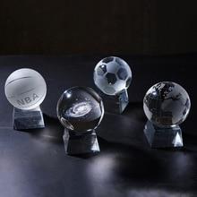 8 بوصة شفافة NBA كريستال الكرة ، DIY الزجاج مصنوعات من الكريستال ، الإكسسوارات المنزلية