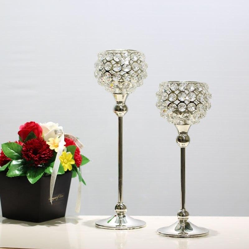 Candelabro de cristal de metal para mesa de boda, centro de mesa,...