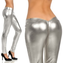 Drawstring Low Waist Package Hip Mosaic Gold Pencil Pants Women Modern Sexy Charming Legging Blingbl