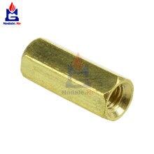 50 pièces En Laiton M3 12mm M3 * 12 Circuits imprimés Vis Hexagonale Filet Écrou Entretoise