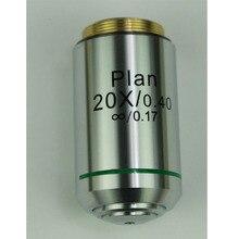 Objectif professionnel 20X 60X Plan achromatique objectif infini 195mm objectif de Microscope biologique