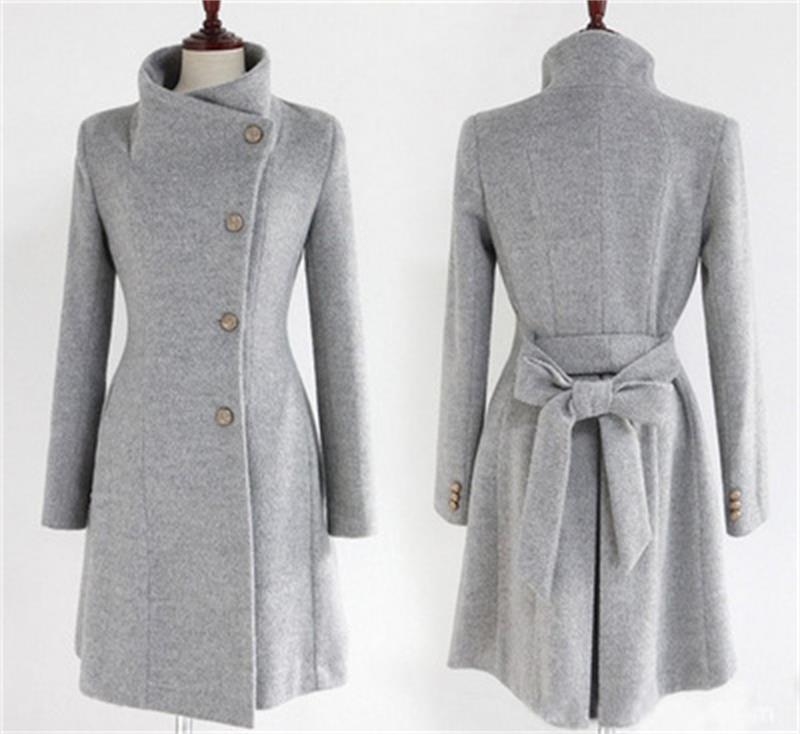 outono e inverno das mulheres novas versao coreana do longa secao do casaco fino