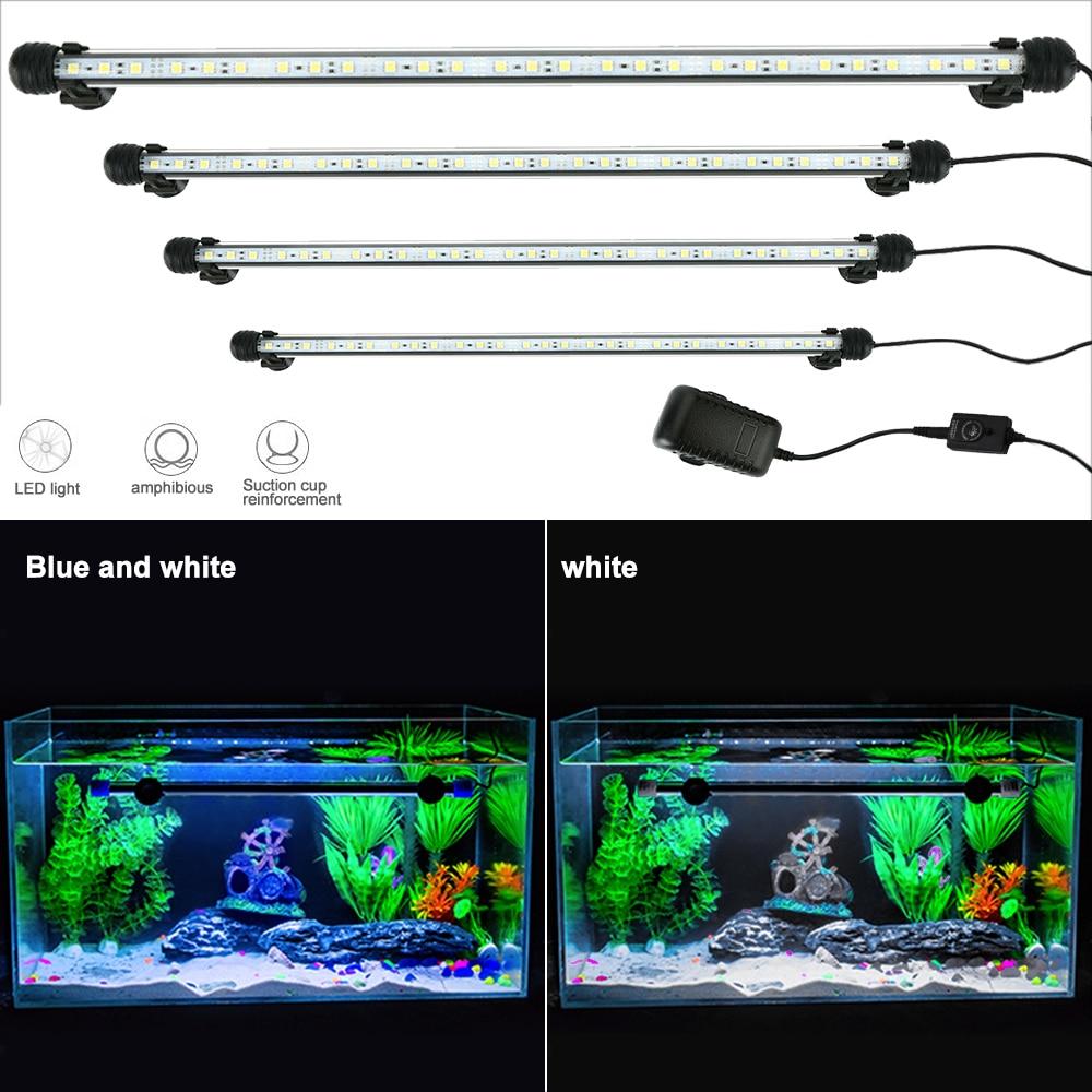 Lâmpada de aquários a prova d água, 19cm, led, para tanque de peixes, ue/eua/reino unido/au luz rgb decoração