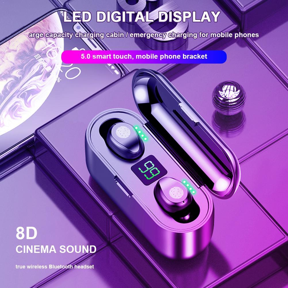 Wireless Bluetooth Earphone Waterproof Touch TWS Wireless Stereo Bluetooth 5.0 Charging Bin Mini Stealth Sports Headphones