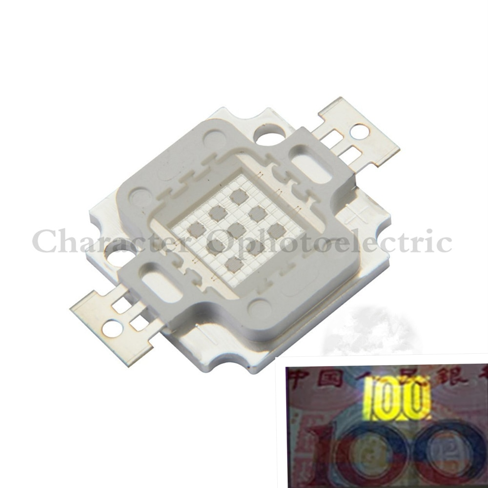10 Watt High Power LED UV-Licht Chip 365nm 375NM 385nm 395nm 400nm nm 430nm Ultra Violet DIY 10 stücke
