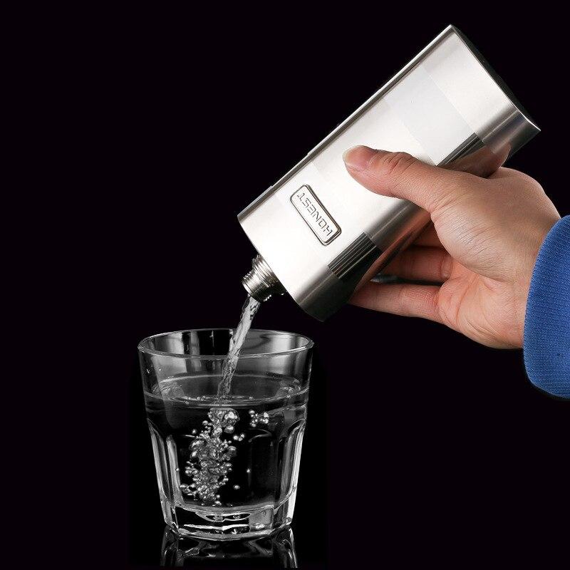 Petaca Set + 4 copas de vino 304 Acero inoxidable 12 oz regalo para hombres de negocios licor Whisky embudo botella para beber