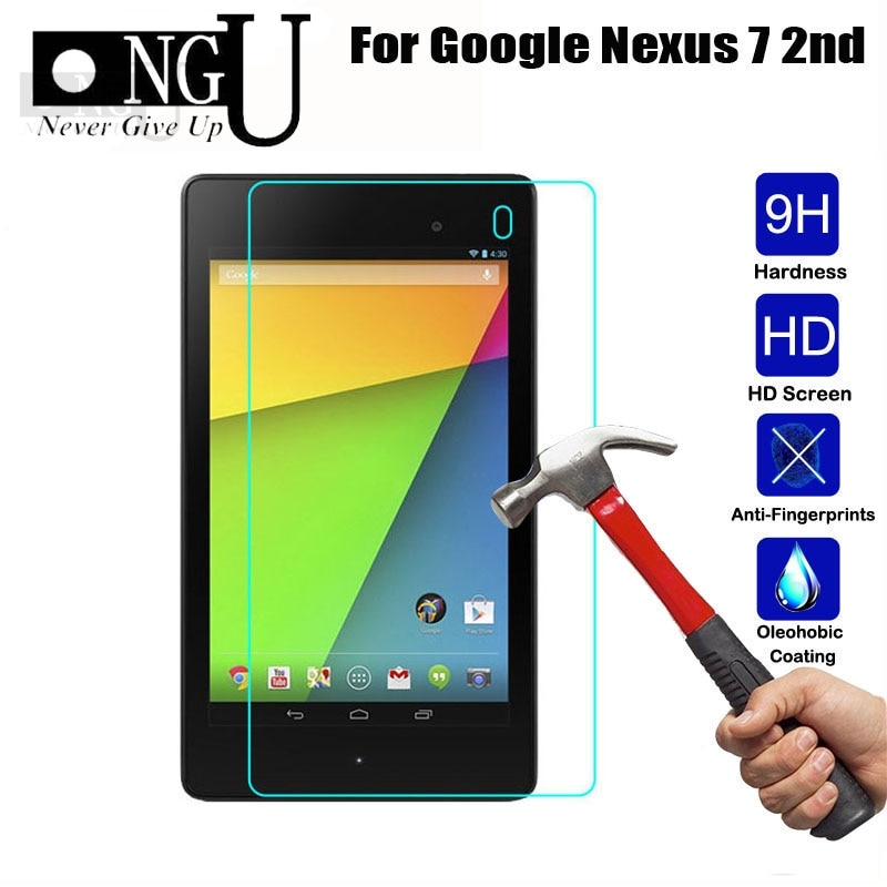 """Screen Protector For Google Nexus 7 1st 2nd 2 Gen I II One Two 2012 2013 7"""" Nexus7 Tablet Tempered Glass Guard 2.5D 9H Glass"""