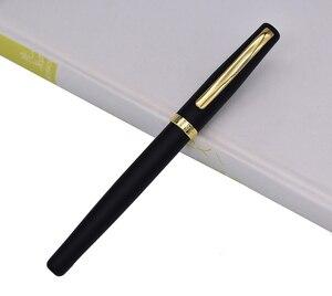 Ручка шариковая Duke, металлическая 209 продвинутая стальная ручка для письма, матовая черная с золотым зажимом для офиса/дома/школы