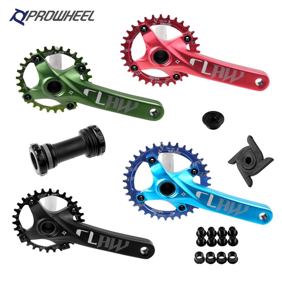 Prowheel 104 BCD mtb велосипедная рукоятка набор 170/175 мм 30/32/34/36/38T круглая Звездочка с нижним кронштейном BB шатун для горного велосипеда