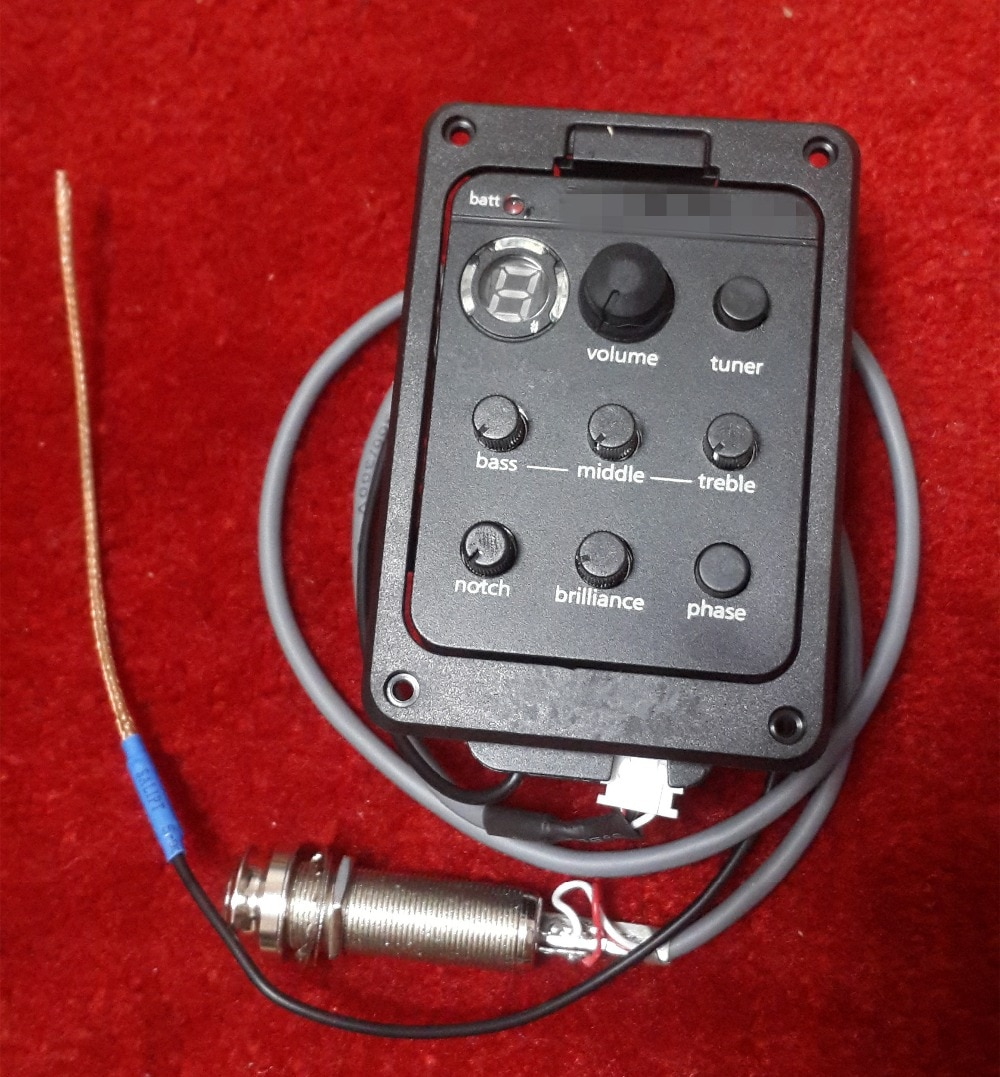 10 قطعة فيشمان الغيتار التقاطات Presys زائد على متن الصوتية الغيتار Preamp EQ مع موالف LED