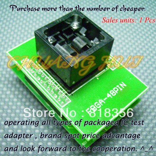 FBGA-48PIN Programmer Adapter  BGA48 TO DIP48 Adapter/IC SOCKET/IC Test Socket