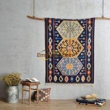 Maroc importé exotique style national tissé à la main Kilim kilimtapis salon table basse canapé tapis gc137-66yg4