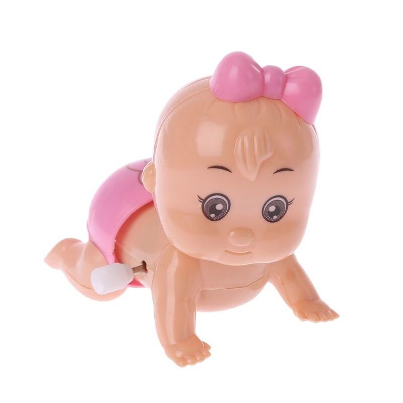 Twist ass bebê rastejando boneca clockwork boneca vento até brinquedo para o presente da festa da menina do menino