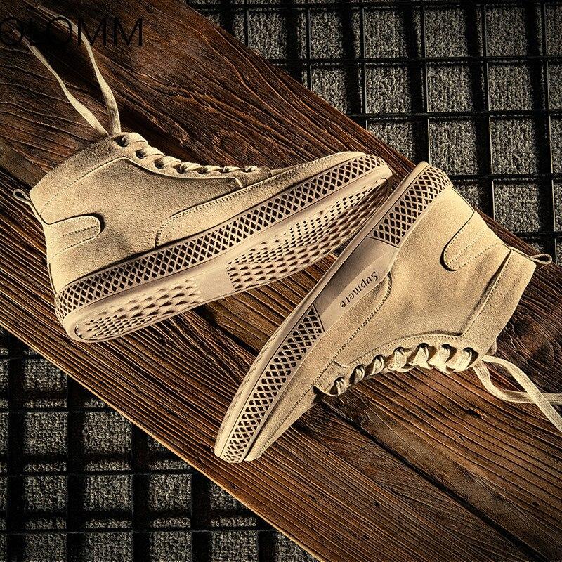 Mens Casual Winter High Shoes England Versatile Shoes Retro Sneakers Men  Zapatos De Hombre  Loafers Tenis Masculino Adulto
