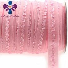 """NEUE 5/8 """"(1,5 cm) rüsche Linie Weiche Elastische Falten Über 50y/lot Beste bar unterwäsche gürtel Band handmade Zubehör Nähen, Perle Rosa"""