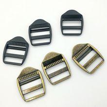 Sac décole en métal épaissi 6 pièces   Échelle boucle sous-ensemble, mot boucle avec ruban ajustable boucle 2.5cm passages de vêtement