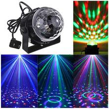 Stage Lamp Moving Head Licht Party LED RBG Disco Ball DJ Sound Activated Strobe Par Licht Thuis Dans Bar Bruiloft show Stage Lamp