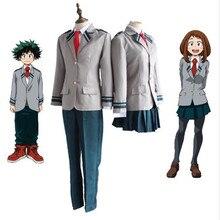 My Hero Academy OCHACO URARAKA Midoriya Izuku Cosplay Costume Boku No Hero Academia AsuiTsuyu Yaoyorozu Momo School Uniform Suit