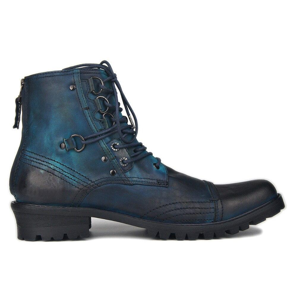 OTTO ZONE-أحذية شتوية للرجال ، أحذية جلدية أصلية بسحاب ، أحذية الكاحل تشيلسي ، مجموعة جديدة