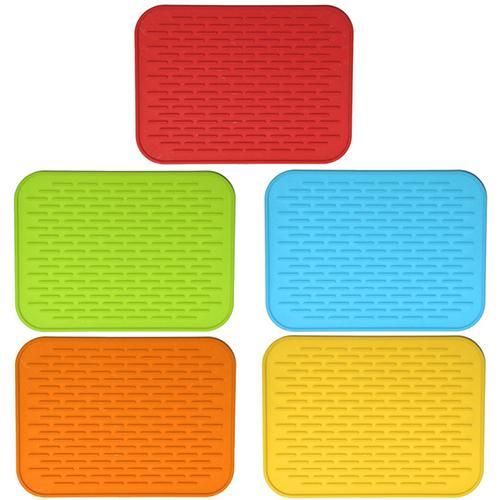 Nueva llegada de silicona resistente al calor colorida cacerola antideslizante mesa de aislamiento térmico tapete titular de la almohadilla herramienta de cocina Envío Directo