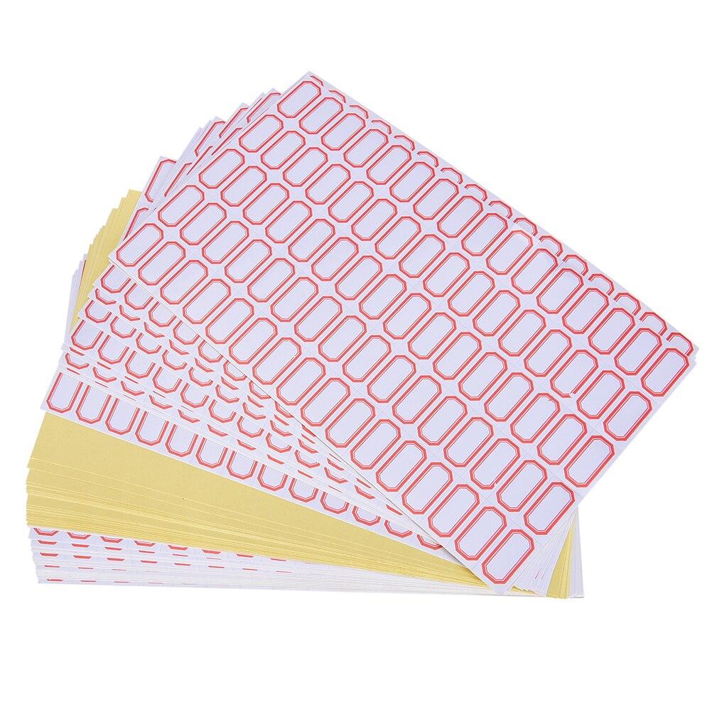 60 hojas/4800 Uds Mini etiquetas autoadhesivas en blanco liso marcapáginas etiquetas de precio etiquetas tamaño 12mm x 23 mm