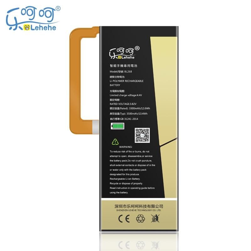 New Original LEHEHE Battery BL268 For Lenovo ZUK Z2 3500mAh Mobile Phone replacement High Quality Ba
