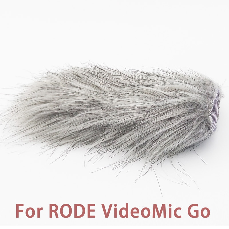 Ulanzi Microphone pare-brise Furry pare-vent pare-brise chat mort pour RODE VideoMic Go/Takstar SGC-598/MIC-01/Comica V30 Lite