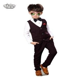 2 шт., жилет и брюки для мальчиков, на свадьбу