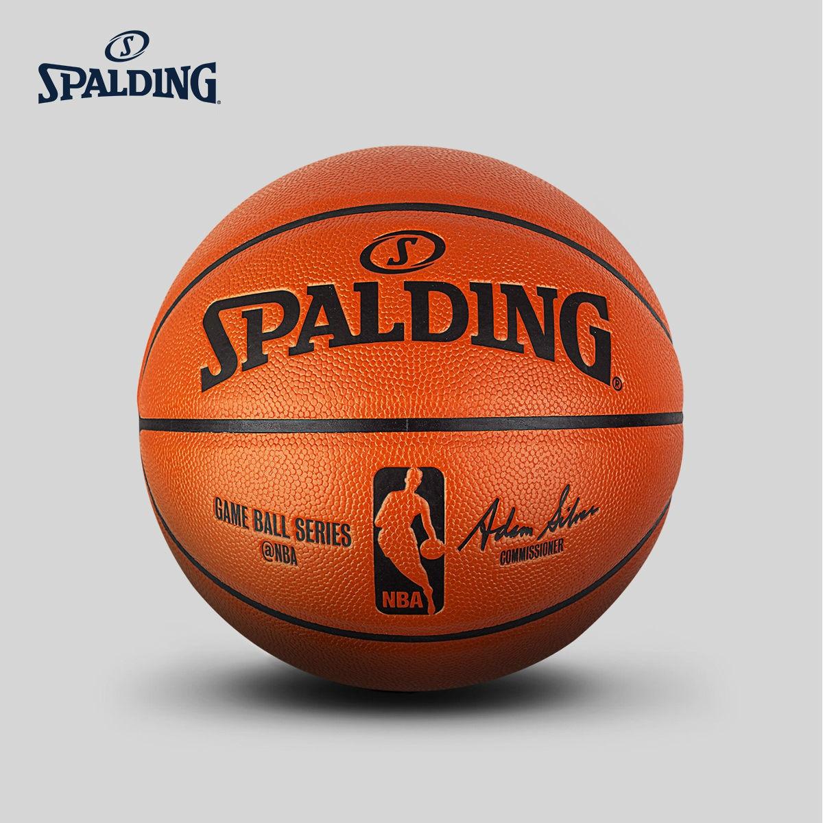 Auténtico balón de Baloncesto estándar Spalding Nba, n. ° 7, pelota de Baloncesto para hombre, 74-570y Baloncesto