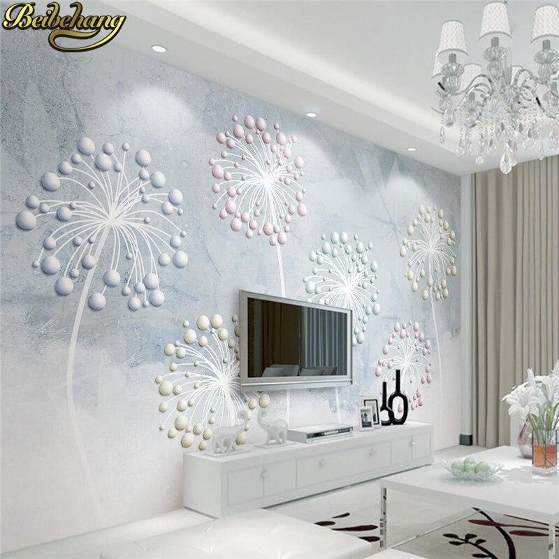 Большие 3d Настенные обои beibehang для гостиной, фона для телевизора, рулон бумаги, стразы, цветы, настенные 3d обои