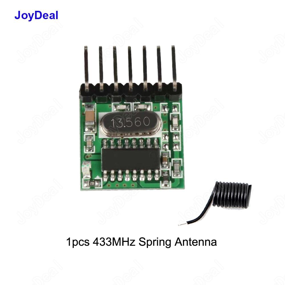 433 mhz RF transmisor aprendizaje código decodificador módulo 433 Mhz inalámbrico 4 canales salida Diy Kit para interruptor de Control remoto 1527 de codificación