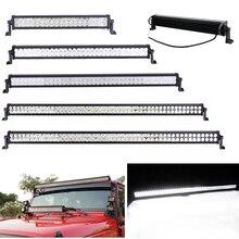 22 32 42 52 zoll 3D 120W 180W 240W 300W Led-lichtleiste Spot Flut Combo für Arbeit Fahren Boot Auto Lkw 4x4 SUV ATV OffRoad Lampe