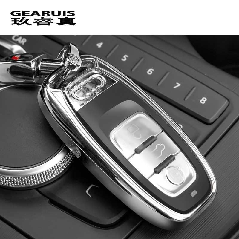 Автомобильный Стайлинг ТПУ чехол для ключей брелок для ключей Декоративные Чехлы для Audi A4 A6 A7 A5 Q3 Q5 Q7 S5 автомобильные аксессуары